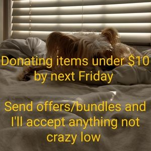 Donating by next Friday